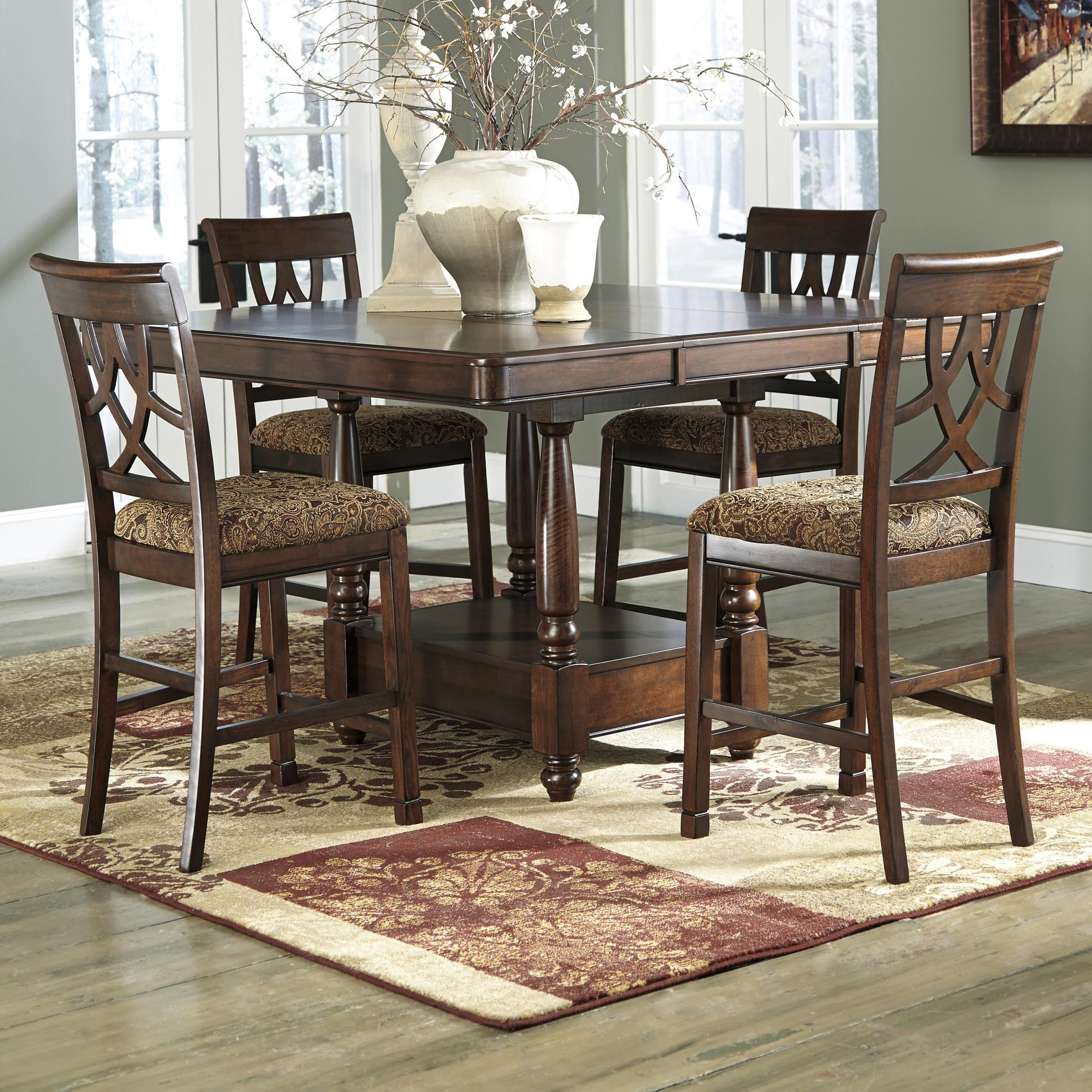 Leahlyn 5 Piece Dining Room Set Table And 4 Chairs By