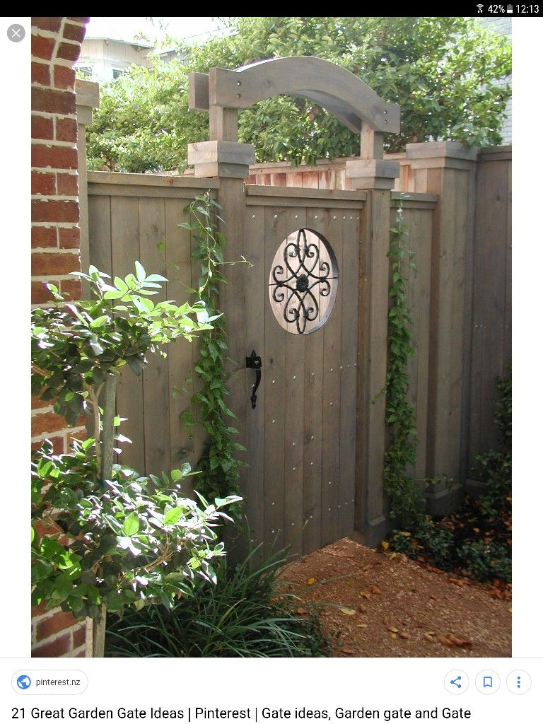 Back yard gate