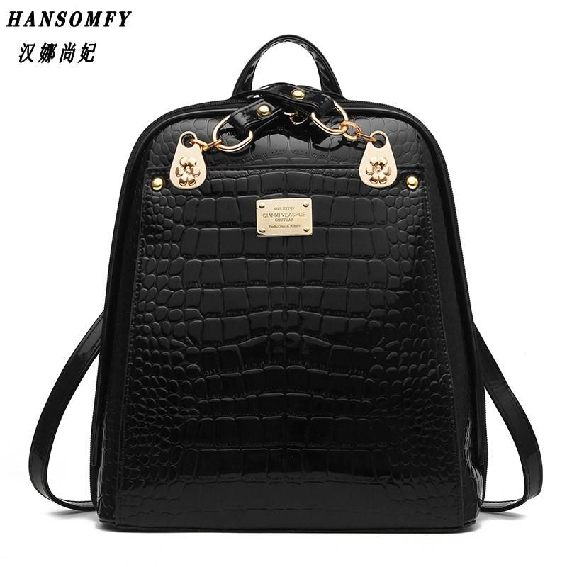74d7e2e88ae7 100% Genuine leather Women backpack 2017 New wave of women s shoulder - US   28.79