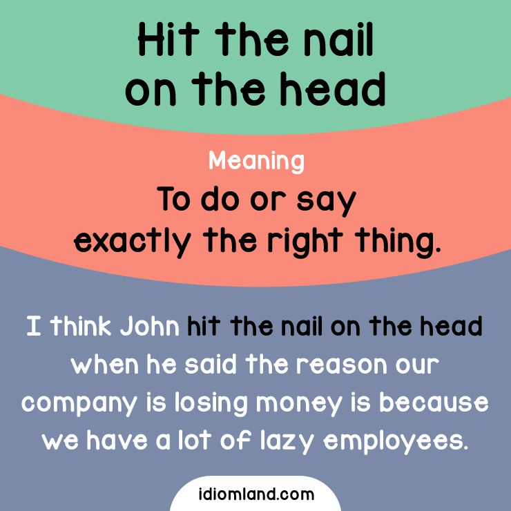 When did you hit the nail on the head last time? - Repinned by ...