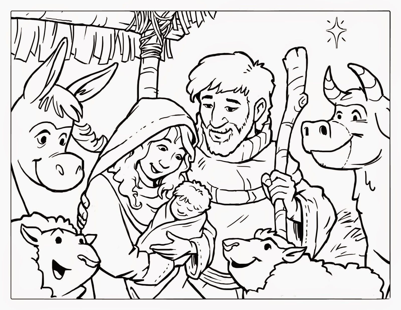 Free Christmas Coloring Page Craft For Kids  Nativity Scene
