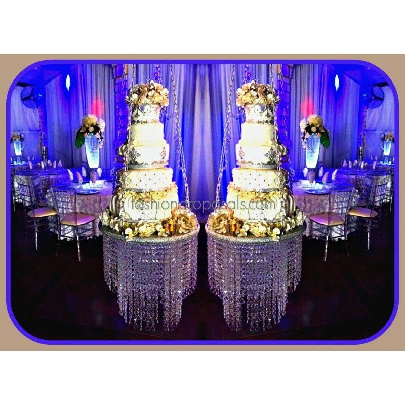Chandelier bling wedding cake wedding cake stand cascade