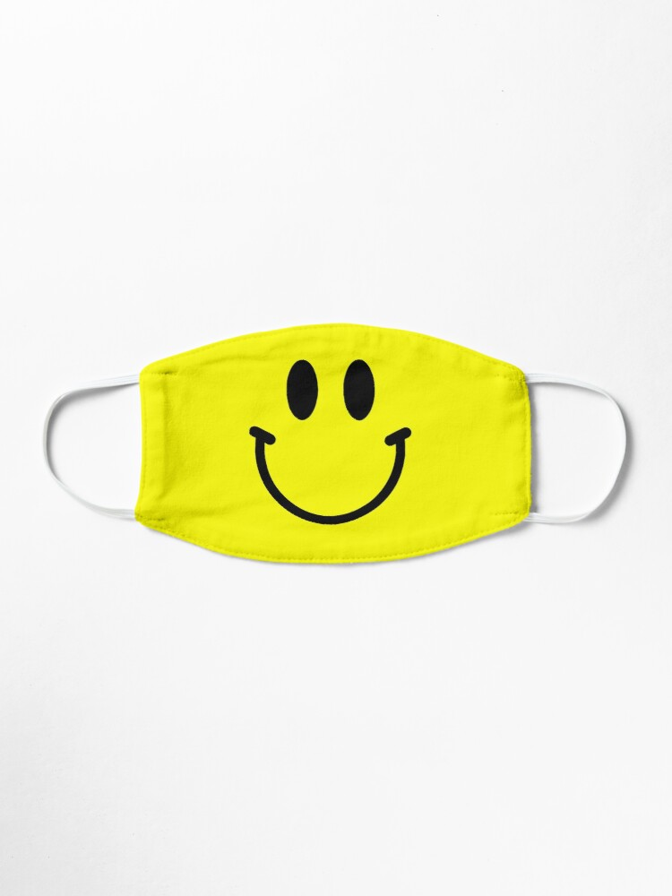 Smiley Emoji Smiley Face Emoticon Mask By Bithys Online In 2020 Face Mask Easy Face Mask Diy Smiley Emoji