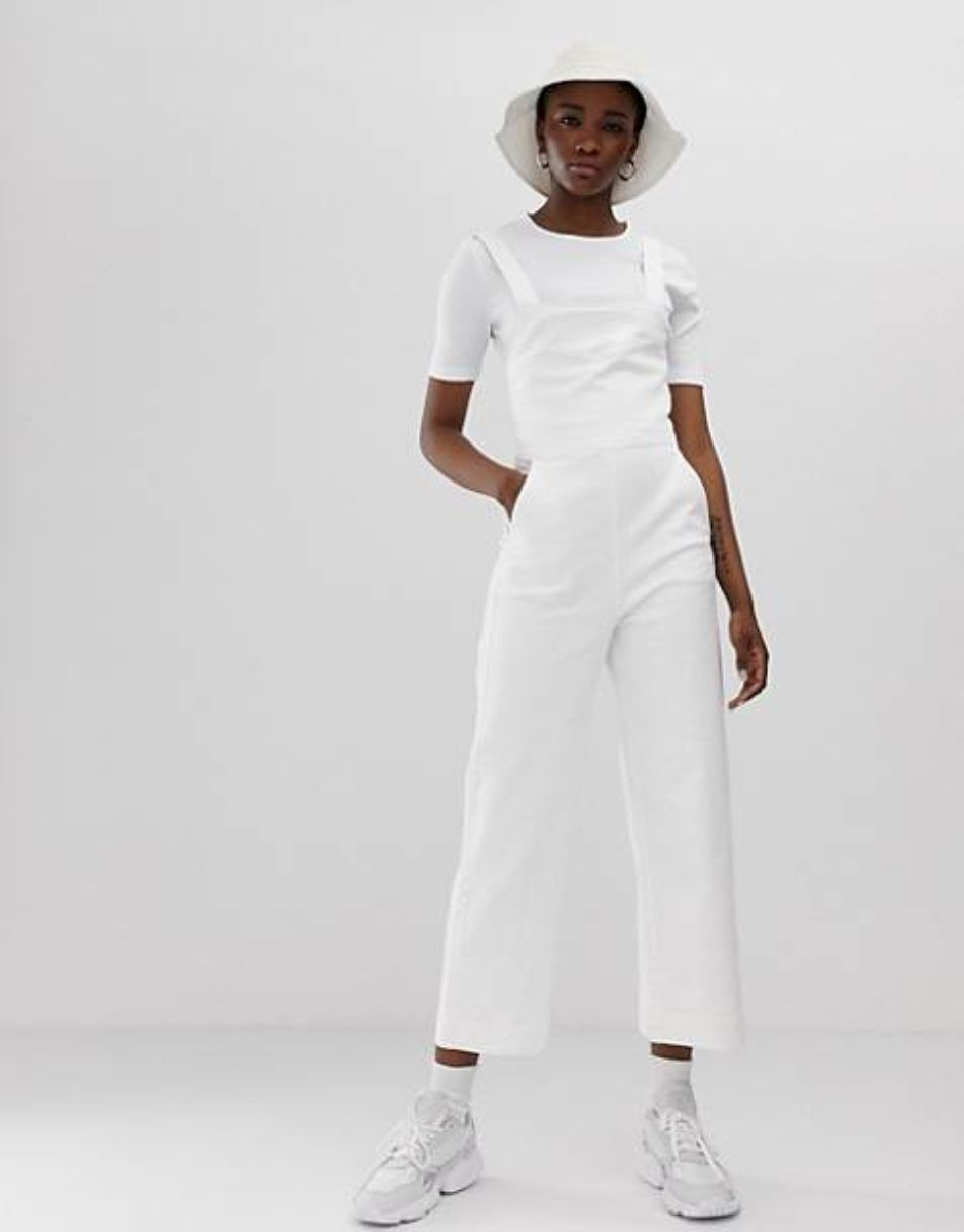 These 10 Rompers Are So Cute You Ll Forget They Re Super Inconvenient In The Bathroom Wide Leg Denim Sleeveless Jumpsuits Jumpsuit