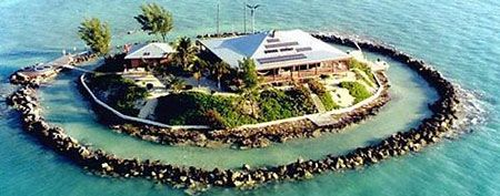 This home on East Sister Rock Island in Marathon, Fla., will keep you safe from a zombie attack. (Realtor.com)