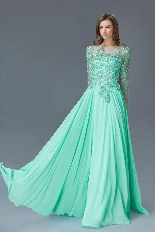 Prima Bella Exclusive Collection Very Elegant Long Sheer Sleeved