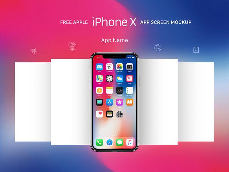 Free Apple Iphone X App Screen Mockup Psd Iphone Mockup Psd Template Downloads Iphone Mockup Psd