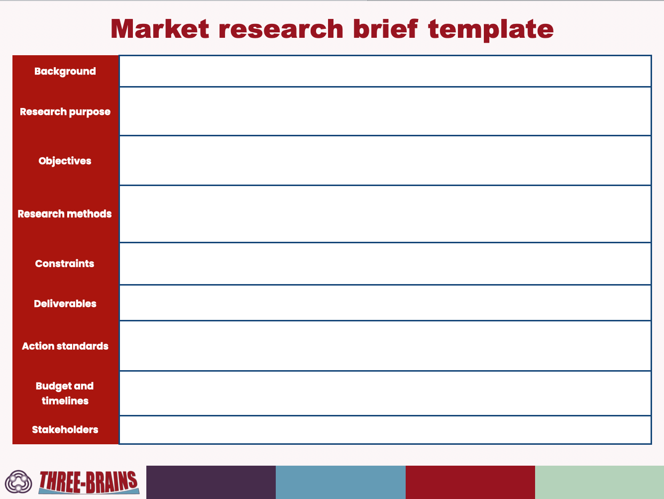 Market Research Brief Template Market Research Research Methods Marketing