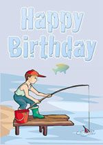 Printable fishing birthday card happy birthday pinterest you will find boys birthday cards galore on this page we have free printable boys birthday cards for all sorts of boys kids will love these great cards bookmarktalkfo Gallery