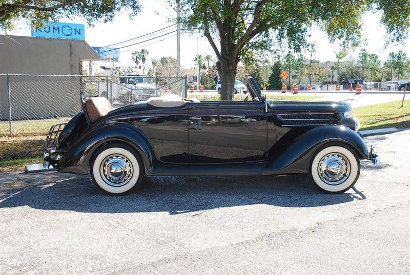 1936 Ford Convertible Deluxe With 34 Flathead V8 Engine Ford Cars