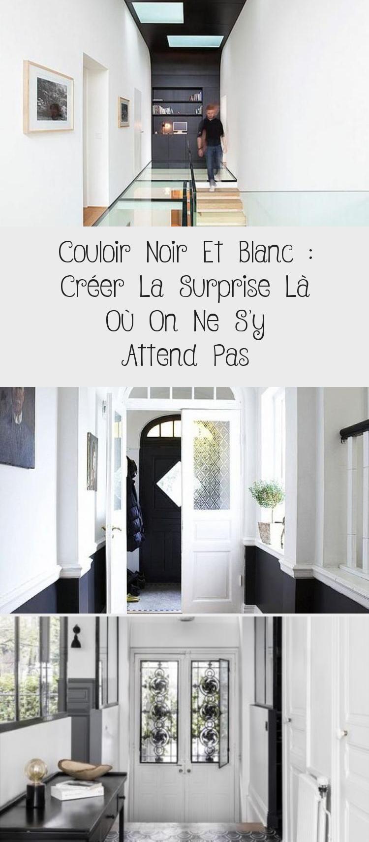Entrée Noir Et Blanc couloir noir et blanc : créer la surprise là où on ne s'y