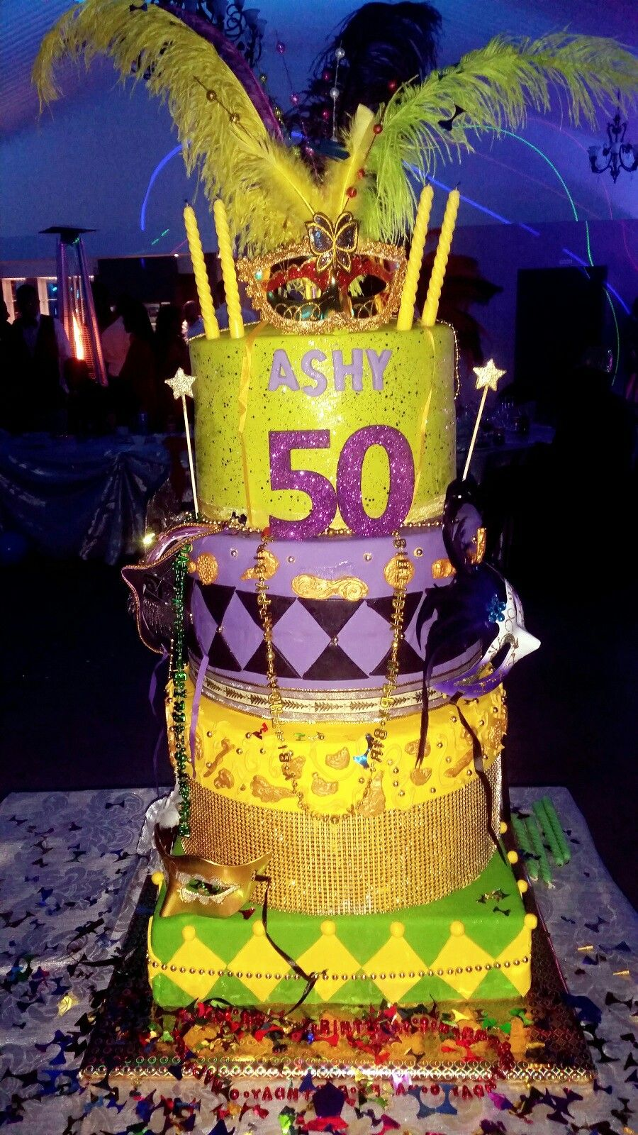 Mardi Gras 50th cake | Cool cakes | Pinterest | Mardi gras and Cake