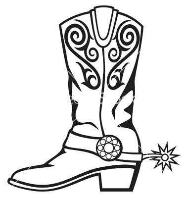 Cowboy Boot Vector Image On Cowboy Boots Drawing Western Clip