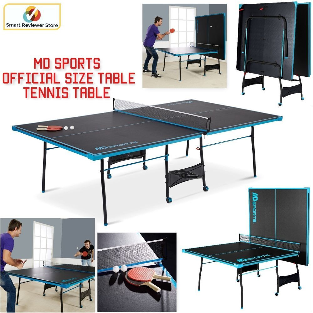 - Folding Ping Pong Table Tennis Tournament Size Game Set Indoor