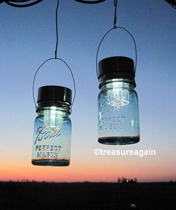 Eco Accent Lights 2 Outdoor LED Lights Hanging by treasureagain, $40.00