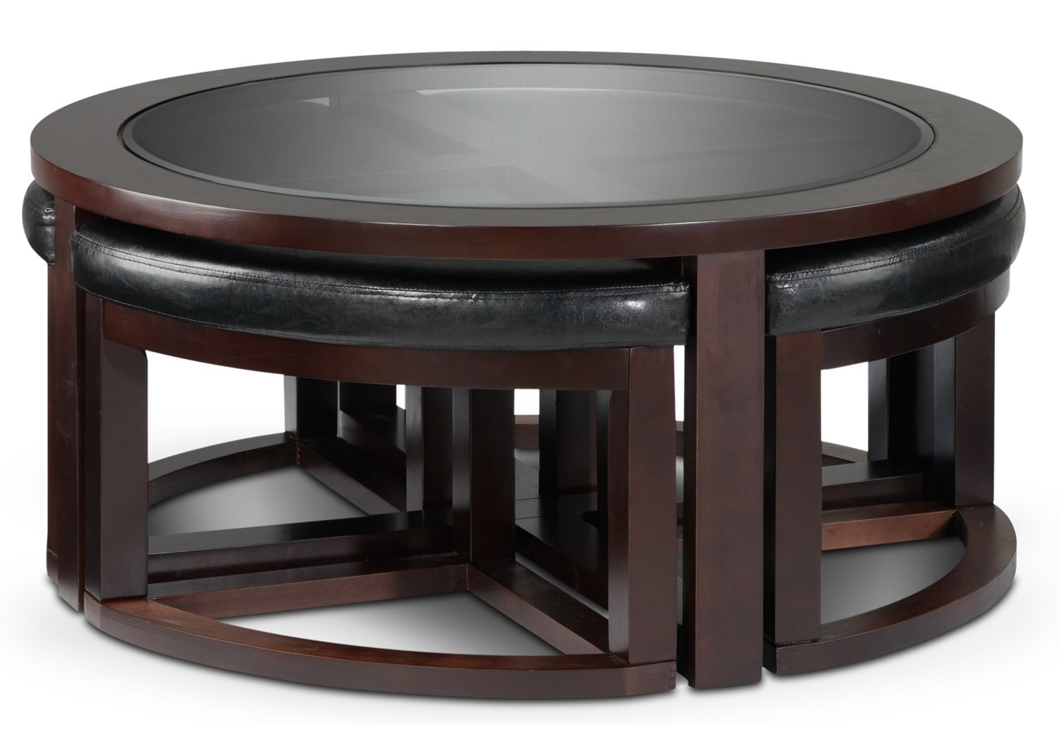 Emma Occasional Tables Cocktail Table W 4 Ottomans