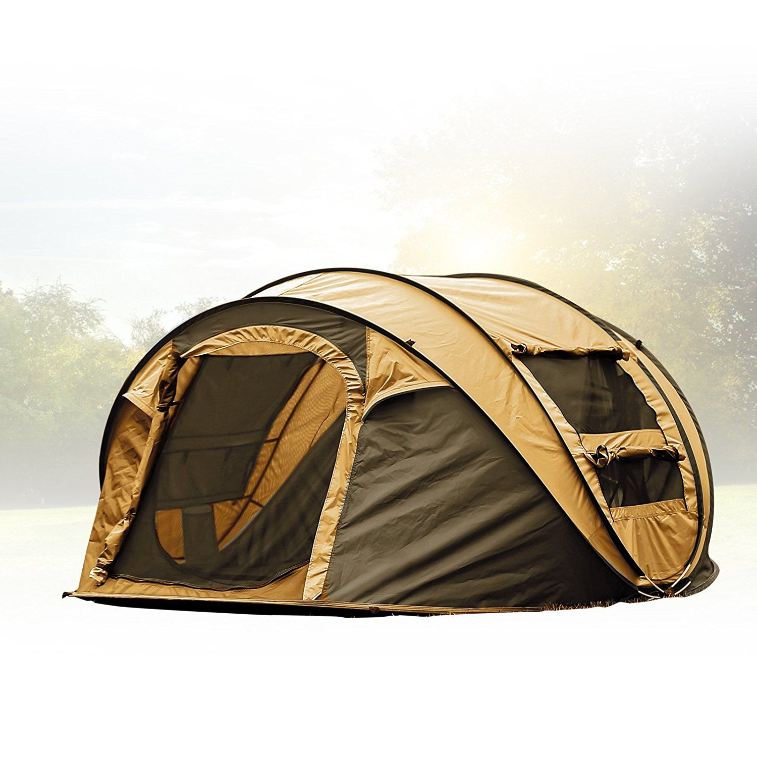 Camouflage Pop Up Camping Hiking Tent Easy Setup Instant Tent