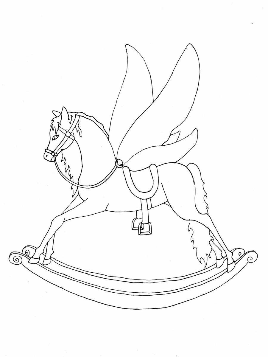 Horse Fly Coloring Page Concept