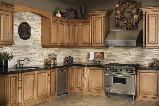 Your Kitchen Using Beautiful Backsplash Designs : Rock Tile Backsplash