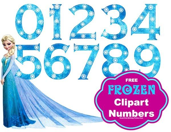 Free Frozen Font Numbers Large size numbers great for