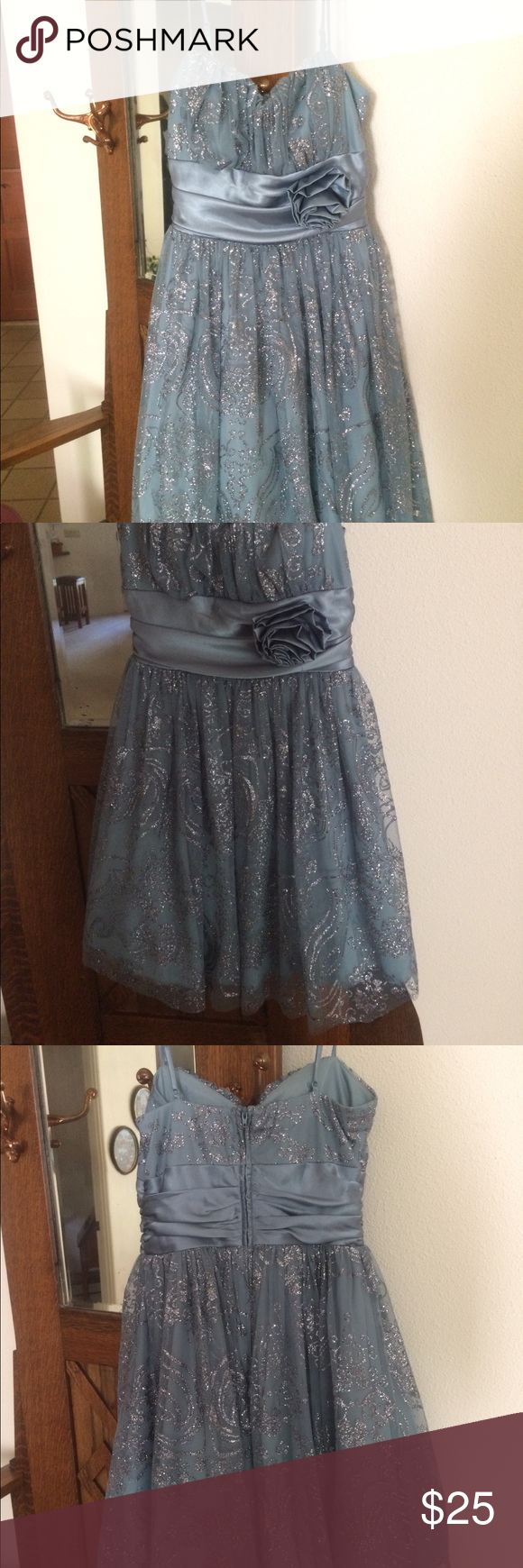 Steel blue and silver dress excellent condition only worn once