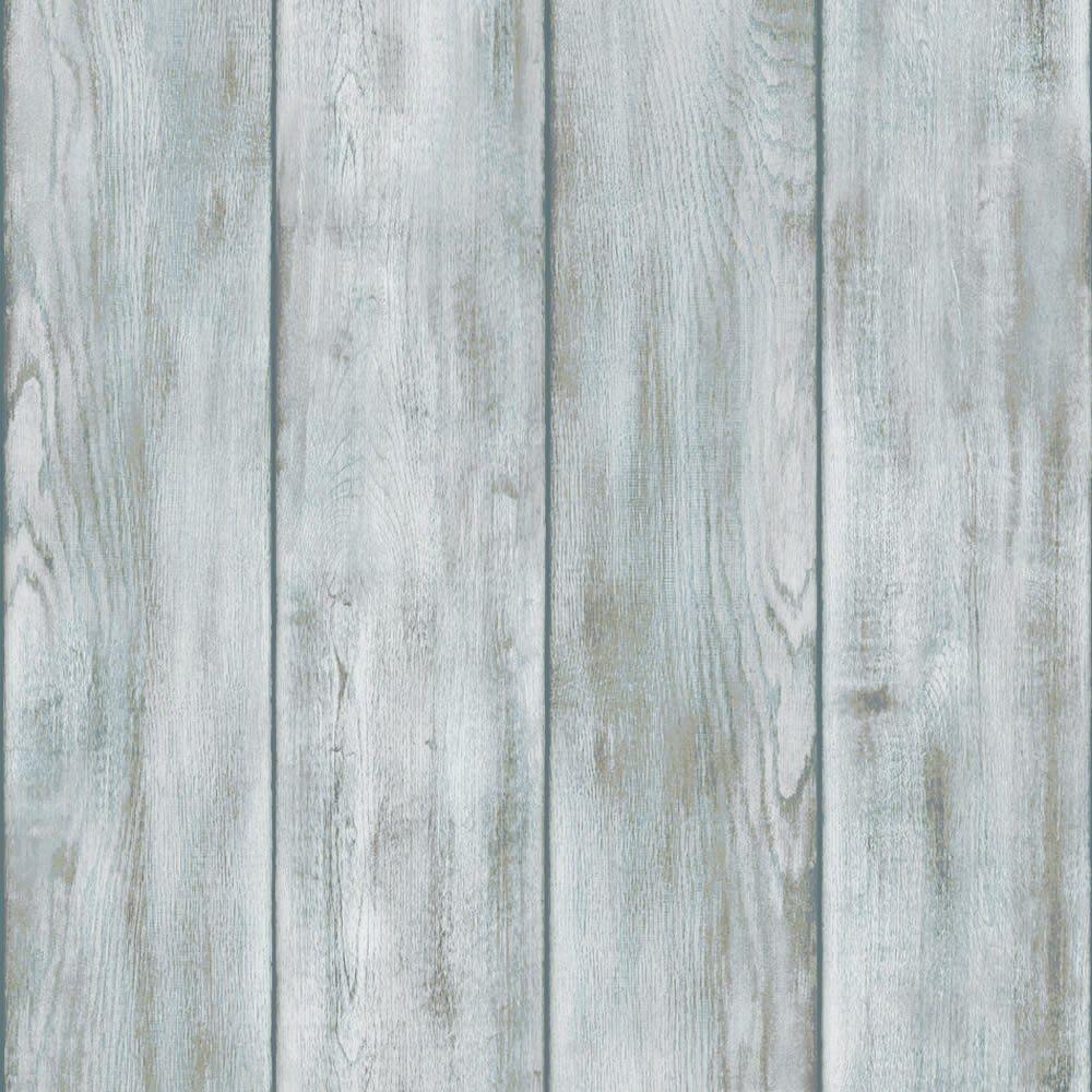 I Love Wallpaper™ Drift Wood Wallpaper Natural Blue