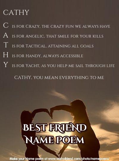Acrostic Best Friend Name Poem Acrostic Best Friend Poem For Your