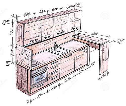 Charmant Pleasurable Ideas Kitchen Cabinet Design Drawing Elevation Line On Home