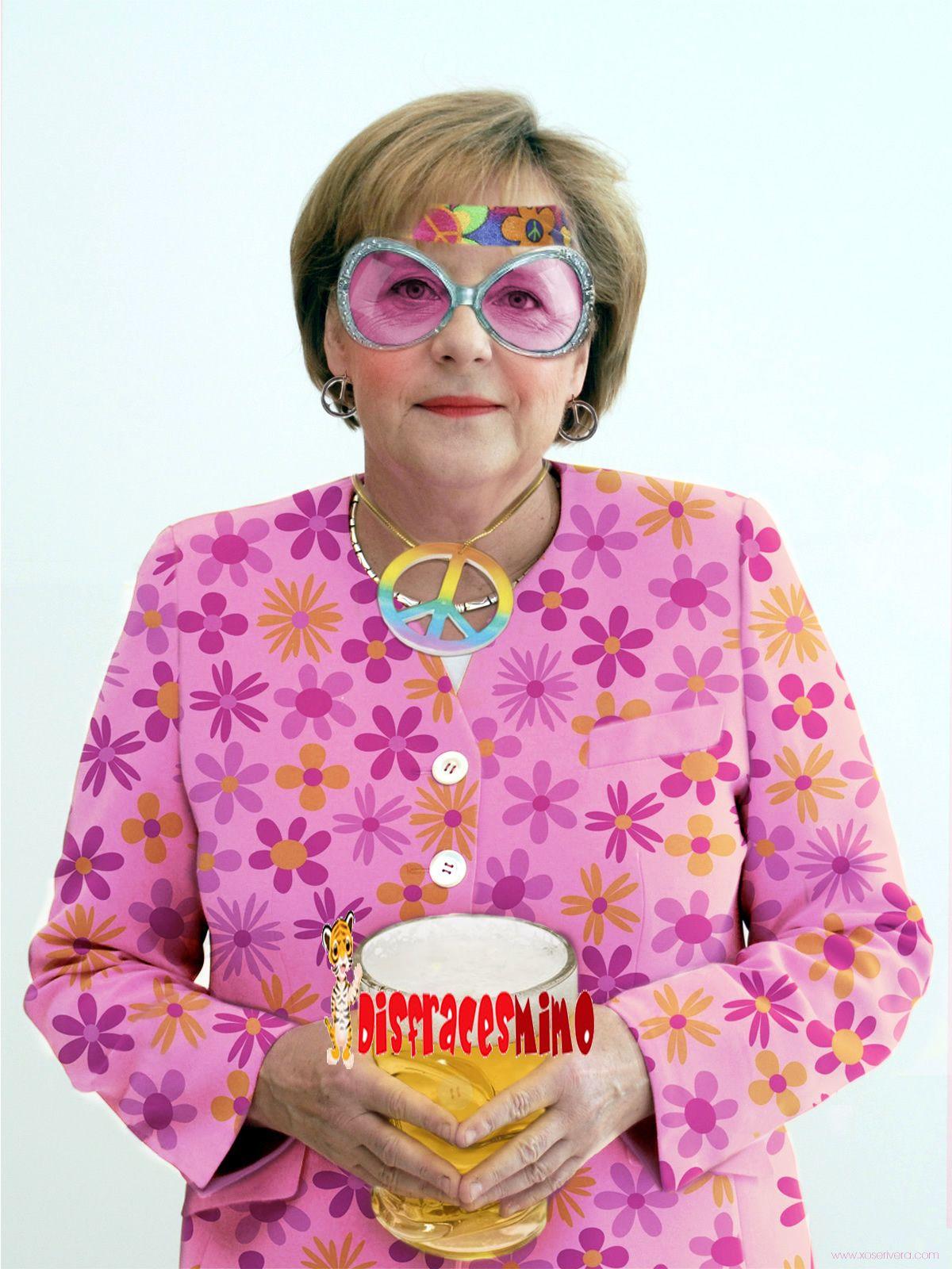 Angela merkel de hippie disfracesmimo disfraces de for Disfraces de los anos 60