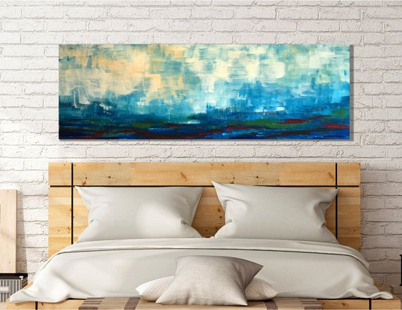 Large scale landscape painting wall art horizontal art wall large scale landscape painting wall art horizontal art wall decor on canvas above sciox Images