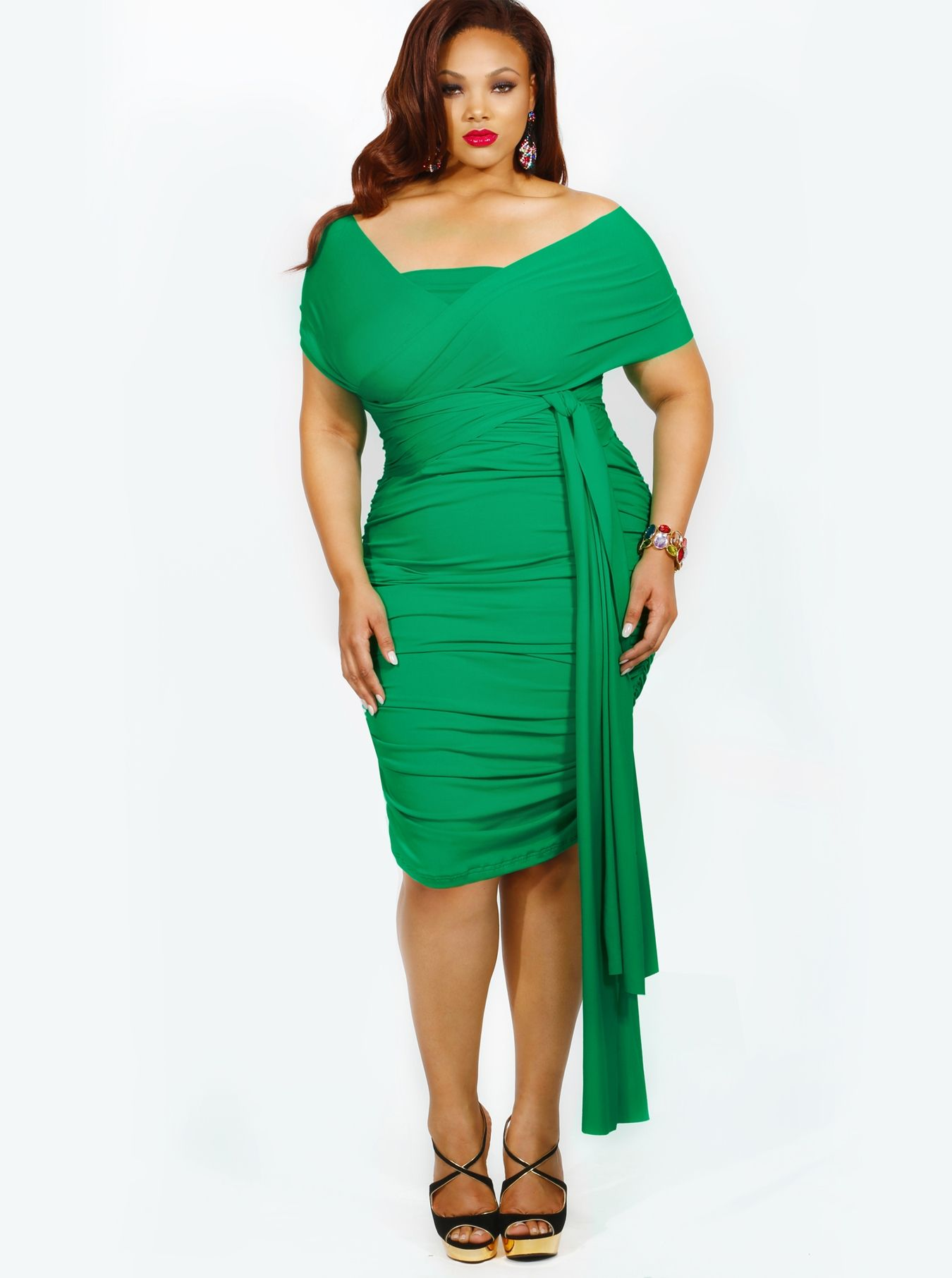Kelly green   Daytime Summer Outfit Crushes   Plus size ...