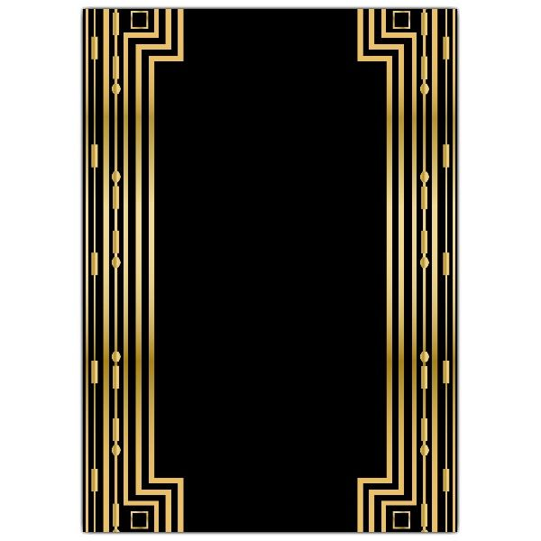Gatsby Gold Wedding Gatefold Invitations Paperstyle P A P E R