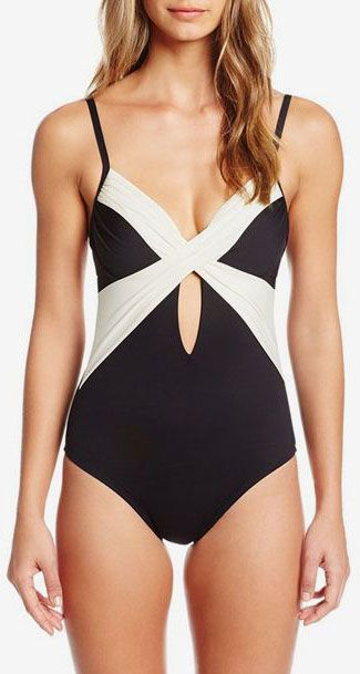 Kenneth Cole New York Women s Tribal Beat Underwire Wrap One Piece Swimsuit 456023a69d