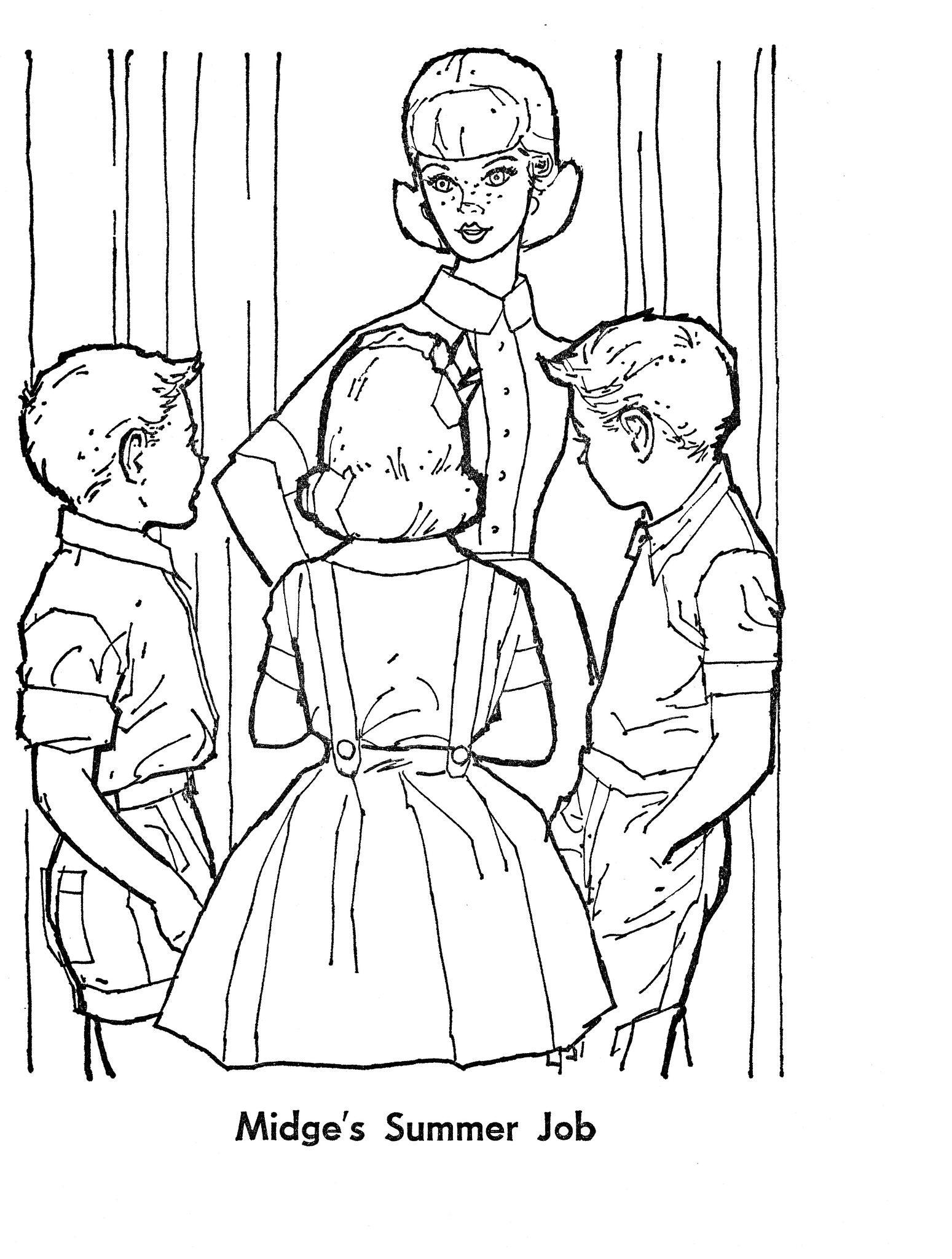 Midges summer job barbie coloring pages princess coloring pages barbie paper dolls mattel