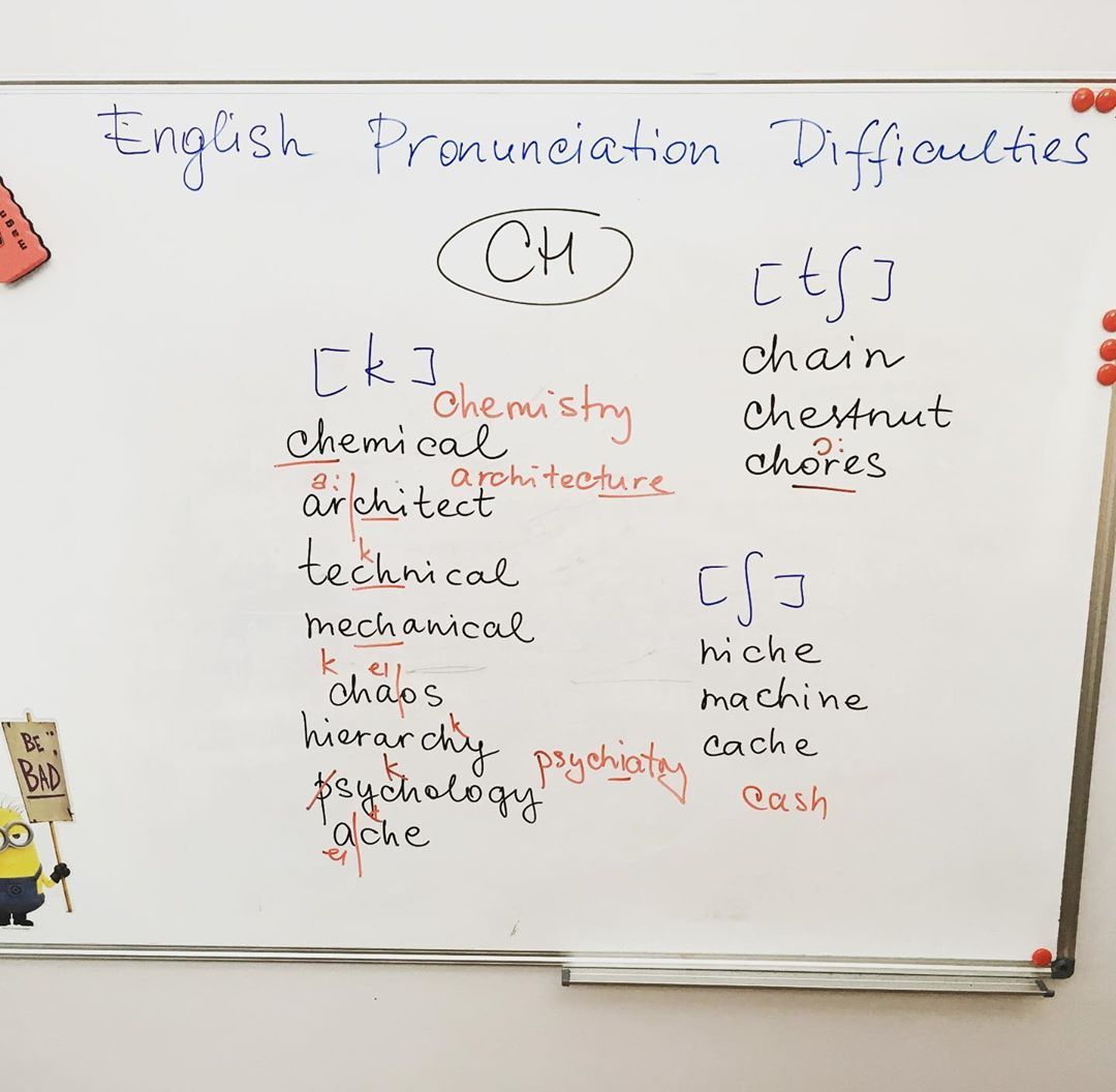 English Pronunciation - CH  Learn english, How to pronounce