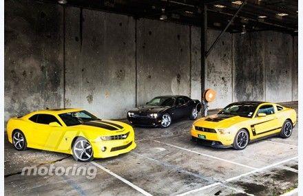 Ford Mustang Vs Dodge Challenger Vs Chevrolet Camaro Yellow Car