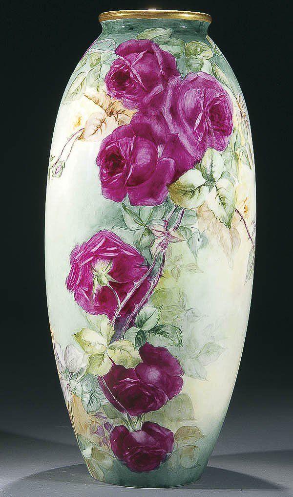 Belleek Hand Painted Porcelain Floor Vase Belleek Love