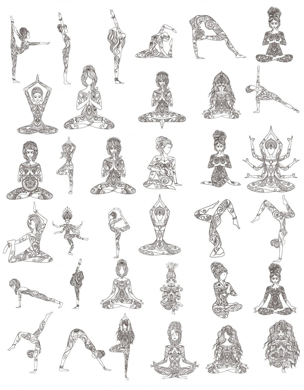 Yoga Poses Yogaposes Yoga Tattoos Yoga Illustration Yoga Drawing
