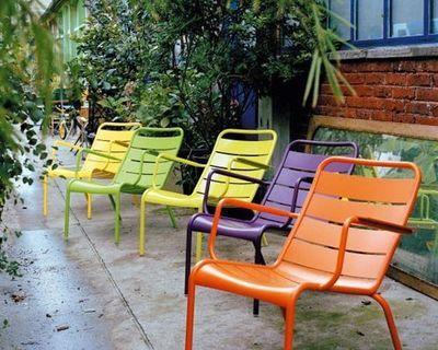 Fauteuil Bas Luxembourg Fermob Marron Vert Made In Design Mobilier Jardin Chaise D Exterieur Fauteuil Bas