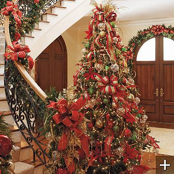 Just before Christmas, Frontgate.com pulls out the classiest, real looking, well made pre-lit trees in just about every shape and height you could every want. Check out the site just before Christmas for all the great indoor and outdoor trimmings too!