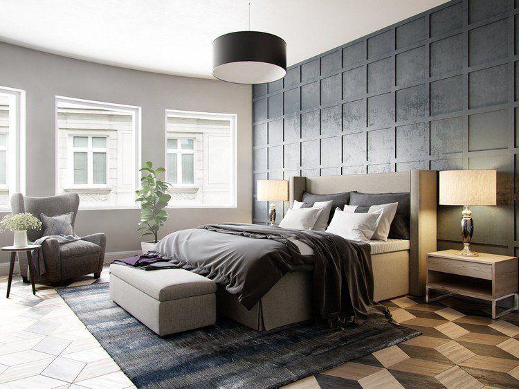 Panneau d coratif mural en 3d et parquet bois dans 12 pi ces chambre panneaux muraux - Panneau mural chambre ...