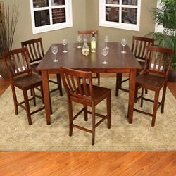 Dalton 9 Piece Butterfly Leaf Counter Height Dining Set With Butterfly Leaf