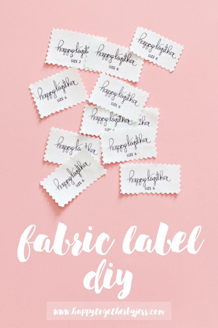 Fabric Label Diy Sewing Labels Labels Diy Fabric Labels