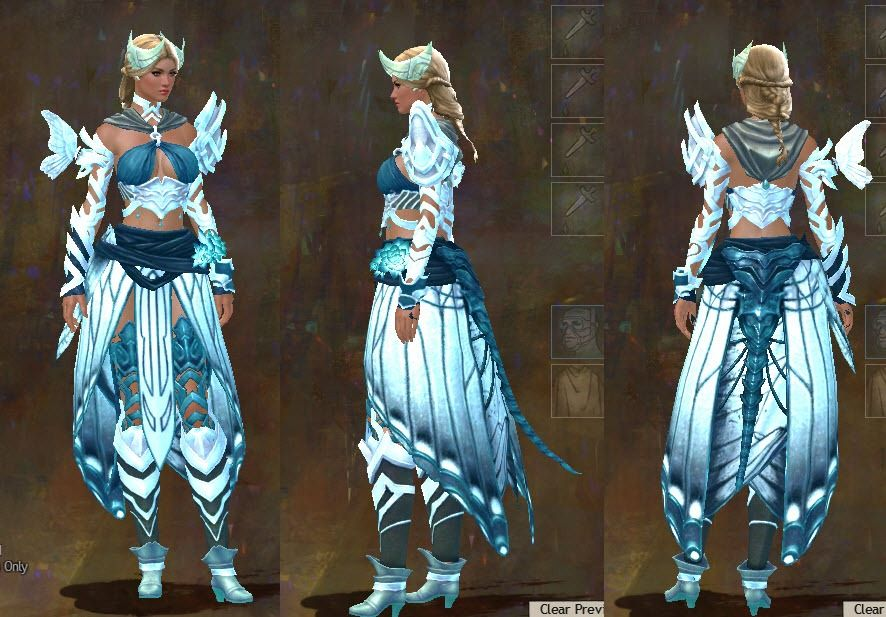 Gw carapace and luminescent armor sets dulfy cosplay guild
