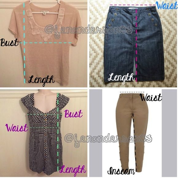 232809bd87 MY MEASURING GUIDE Here s how I measure my items - always lying flat! American  Eagle Outfitters Tops