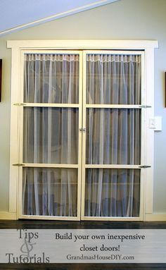 Closet Door Alternative, Light, Easy To Make And Beautiful. Tip And  Tutorial On