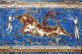 Oh those crazy Minoans ;) Minoan bull-leaping, Ancient religion and extreme sport :) ~S