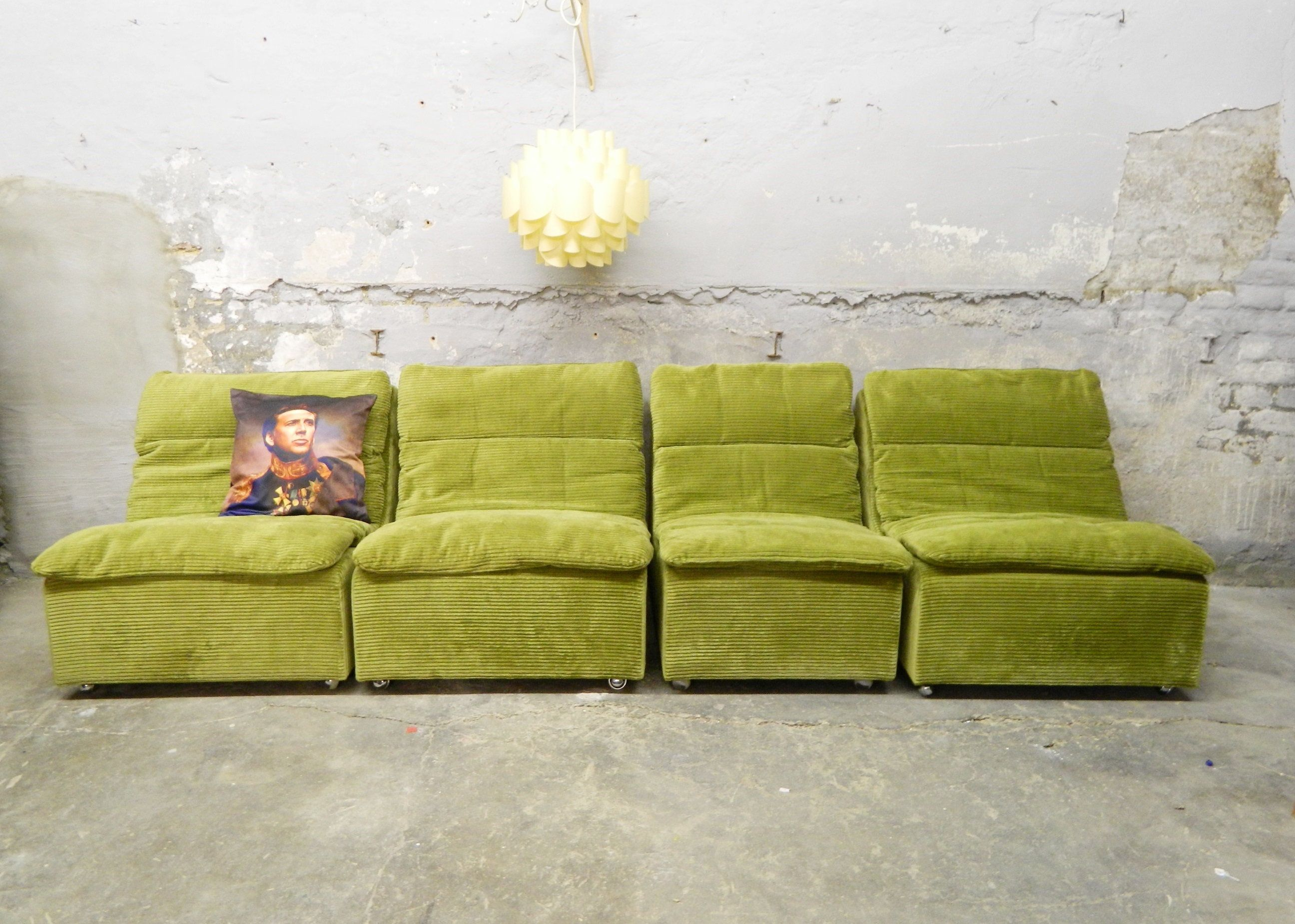 70er Jahre Couch Elemente Vintage Sofa 1970s Cord Lounge Couch
