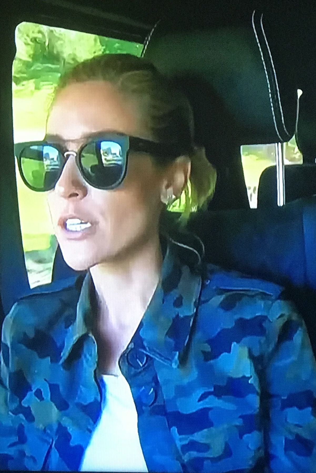 db5b1809d03 Kristin Cavallari wearing L agence Cromwell Camo Jacket and Quay Odin  Sunglasses