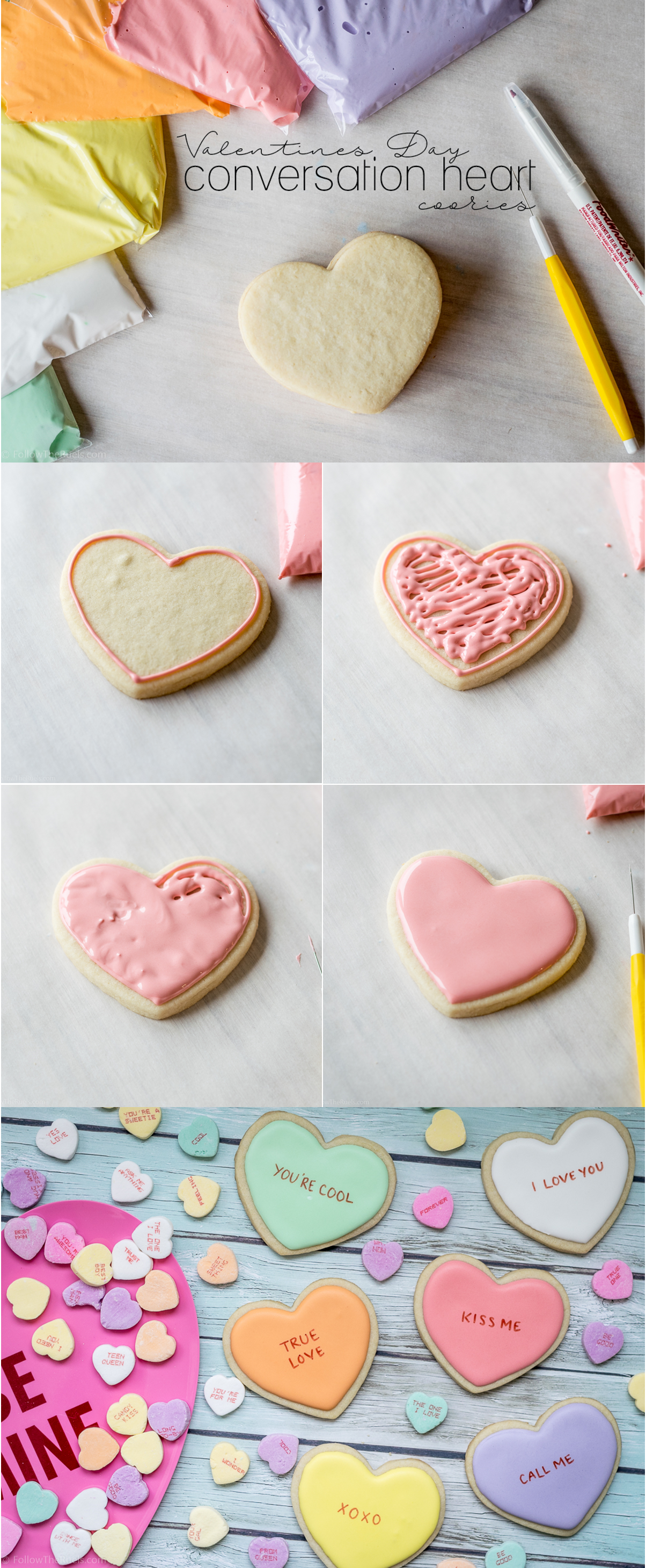 Royal Icing Recipe Decorated Cookies Pinterest Heart Cookies